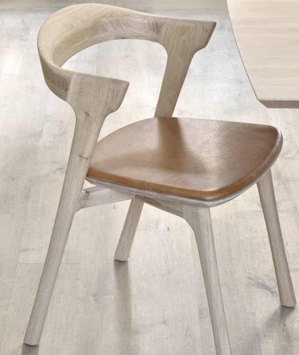 Bok Dining Chairs - Leather Ethnicraft - BEAM // Design Store