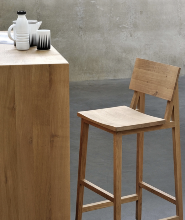 N Counter + Bar Stools Set/2 Ethnicraft - BEAM // Design Store
