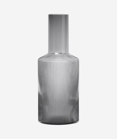 Ripple Carafe Smoked Grey Ferm Living - BEAM // Design Store