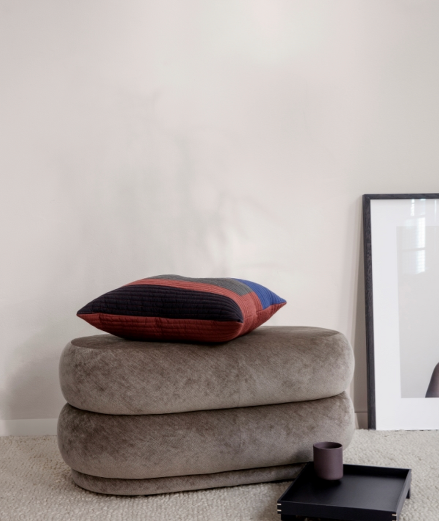 Faded Velvet Pouf Oval - 5 Colors Ferm Living - BEAM // Design Store