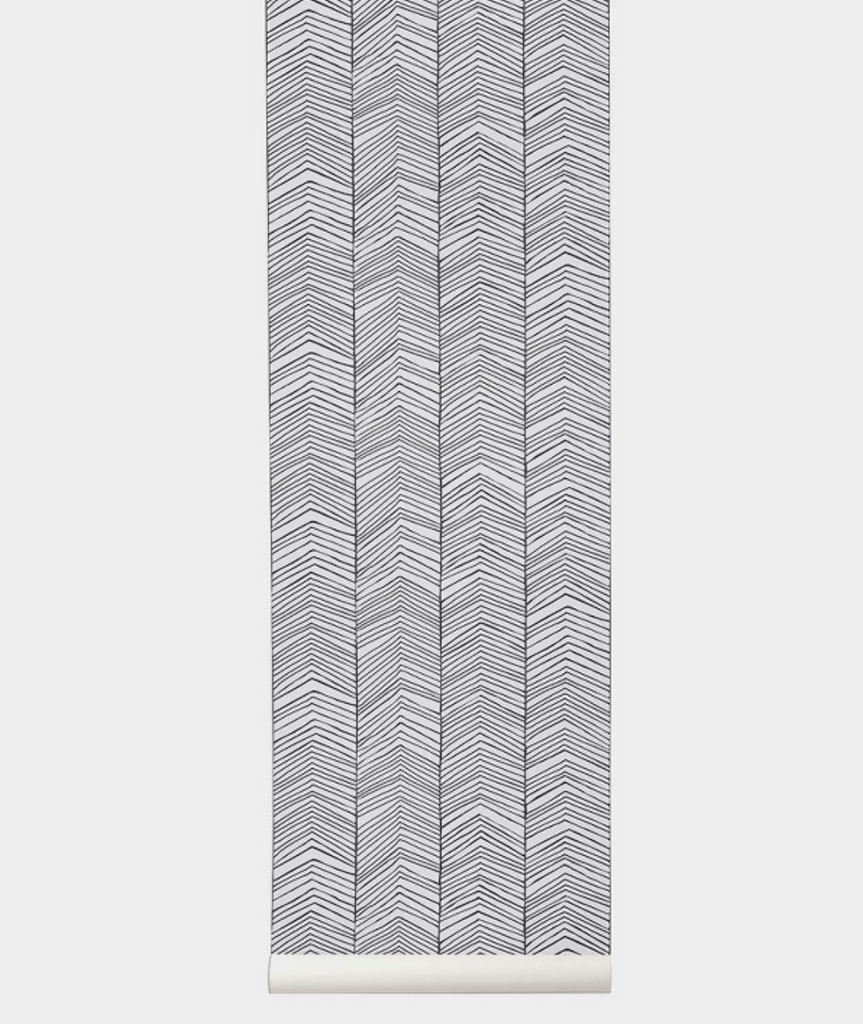 Herringbone Wallpaper Ferm Living - BEAM // Design Store