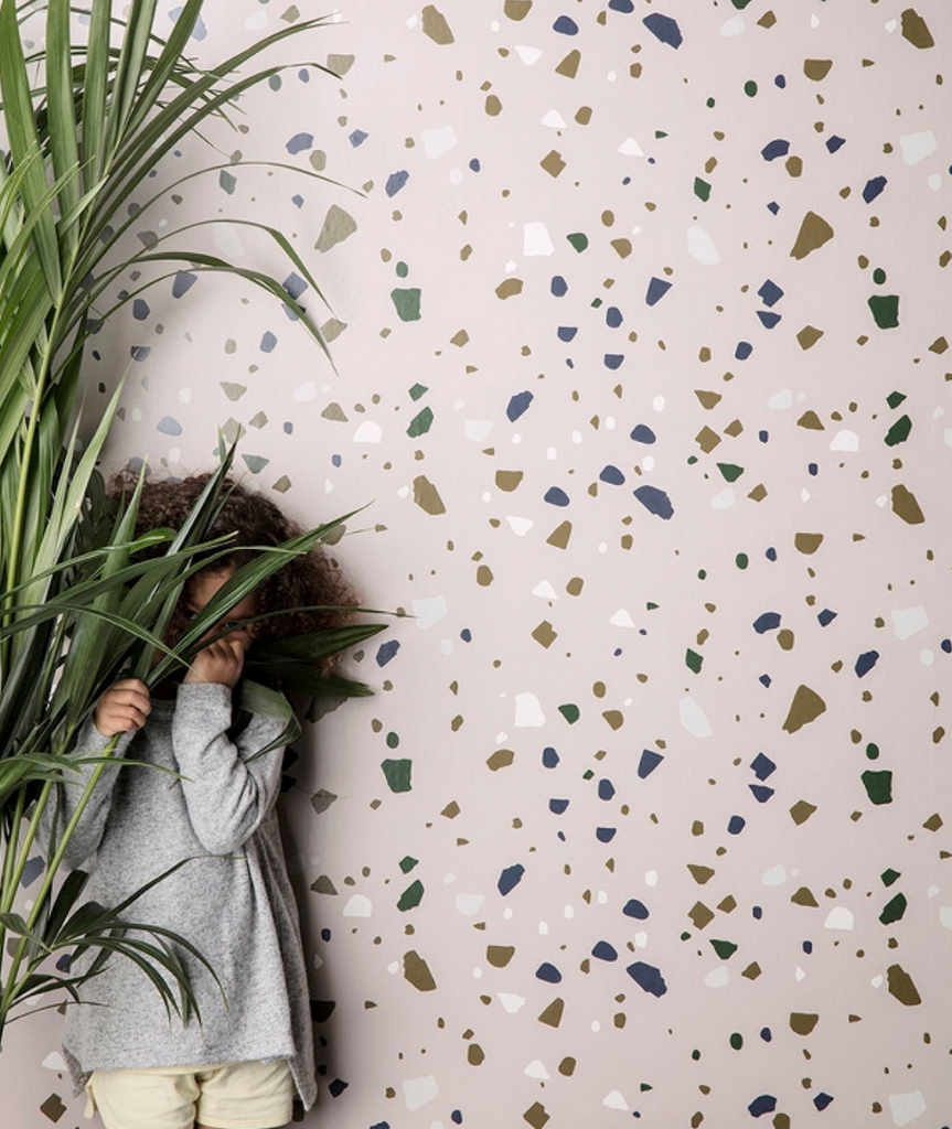 Terrazzo Wallpaper - 2 Colors Ferm Living - BEAM // Design Store