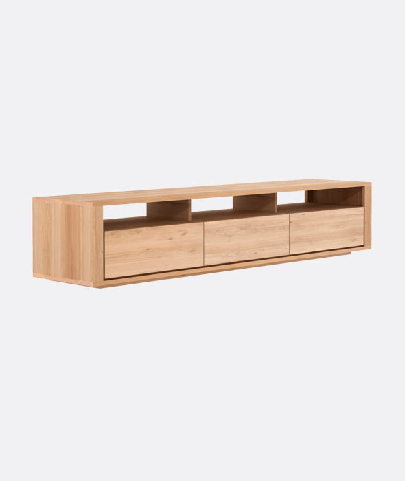 Shadow TV Cupboard - 3 Drawers Ethnicraft - BEAM // Design Store