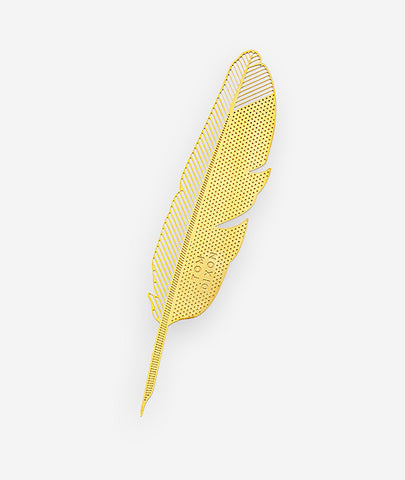 Brass Feather Quill Bookmark