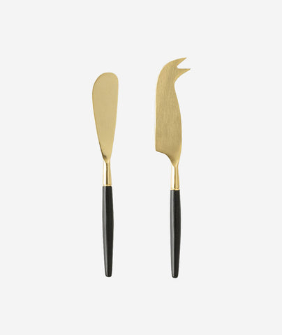 Brass Cheese Knives Set of 2
