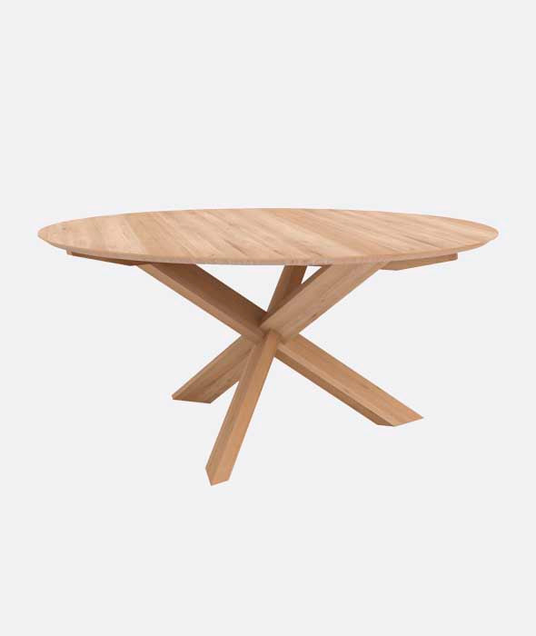Circle Dining Table - 2 Sizes Ethnicraft - BEAM // Design Store