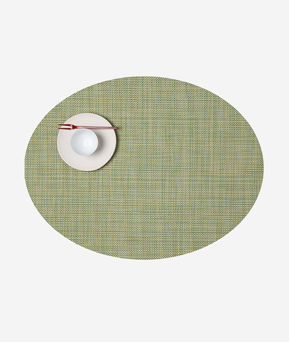 Mini Basketweave Oval Placemat Set/4 - More Colors