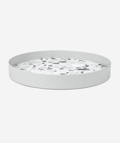 ERAT Terrazzo Tray White - 2 Sizes Lucie Kaas - BEAM // Design Store