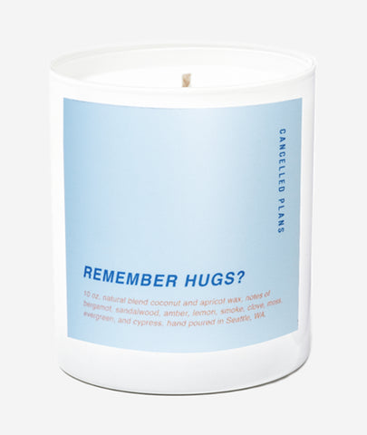 Remember Hugs? Candle