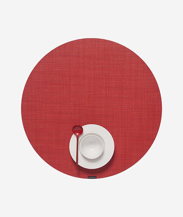 Mini Basketweave Round Placemat Set/4 - 25 Colors