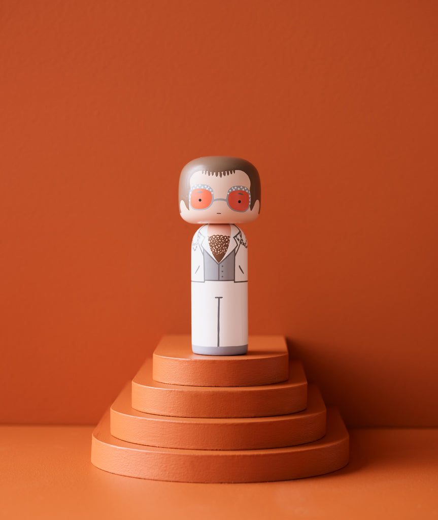 Elton Kokeshi Doll - 3 Sizes Sketch.inc for Lucie Kaas - BEAM // Design Store