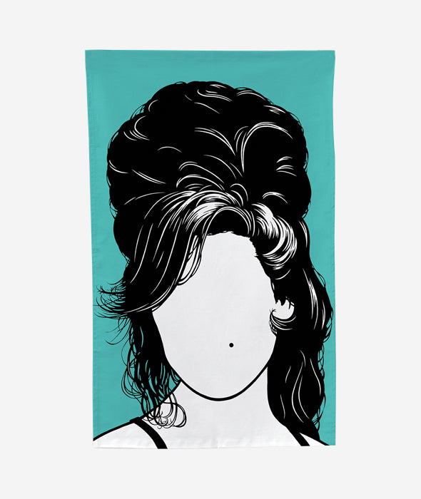 Amy Winehouse Tea Towel Bold & Noble - BEAM // Design Store