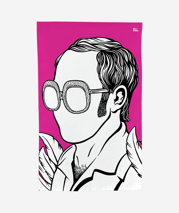 Elton John Tea Towel