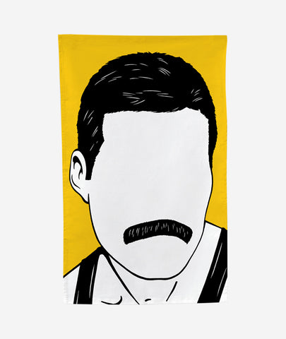 Freddie Mercury Tea Towel Bold & Noble - BEAM // Design Store