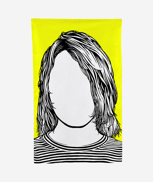 Kurt Cobain Tea Towel Bold & Noble - BEAM // Design Store