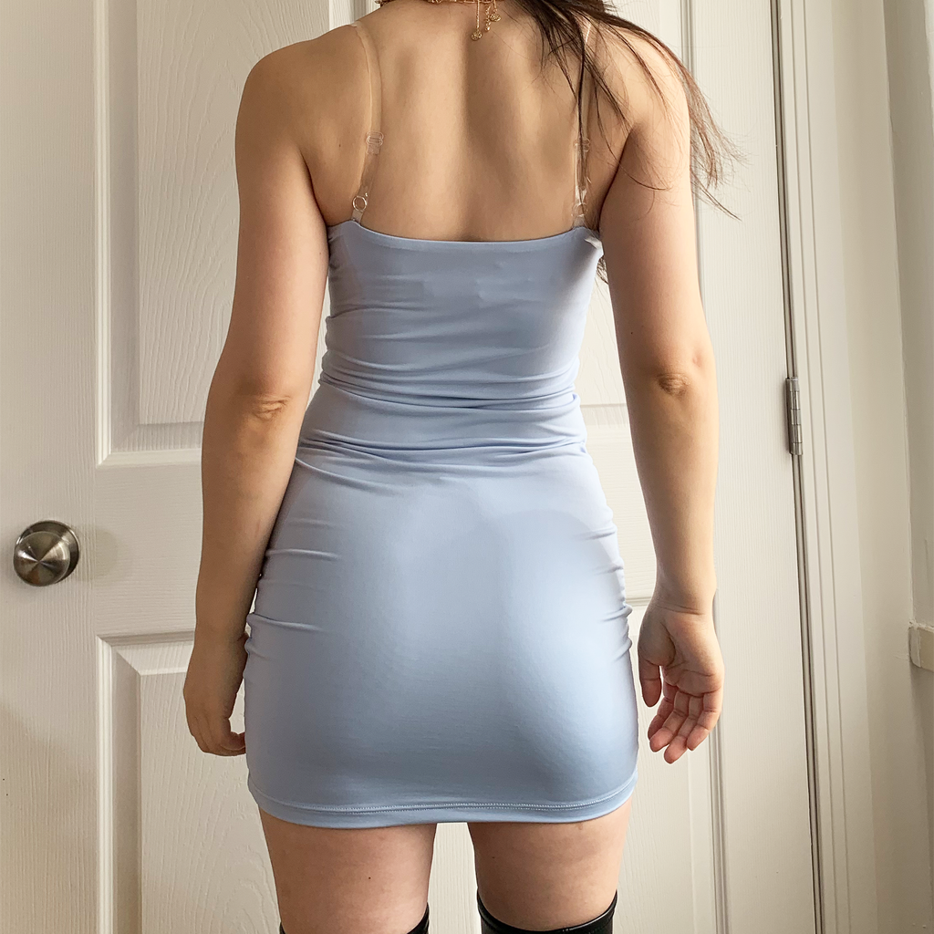 True Baby Blue Mini-Dress