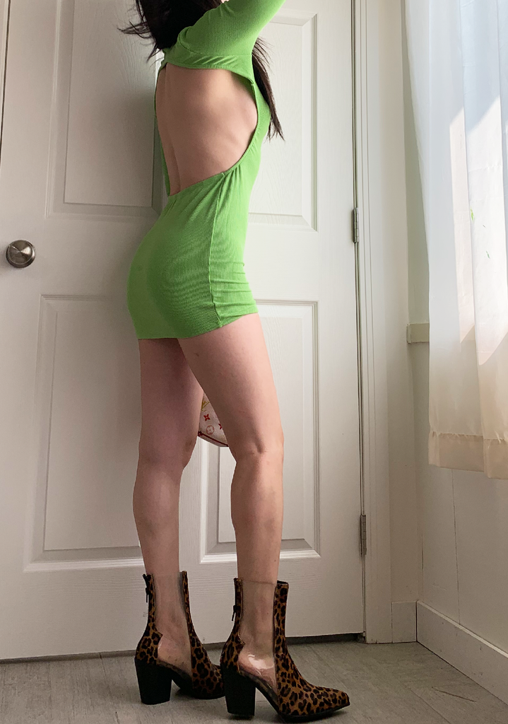 Epic Daydream Green Ribbed Dress
