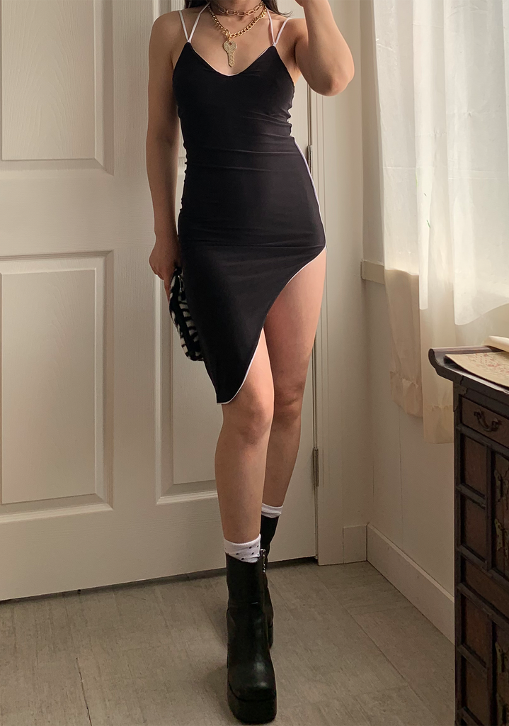 Slick Black Dress