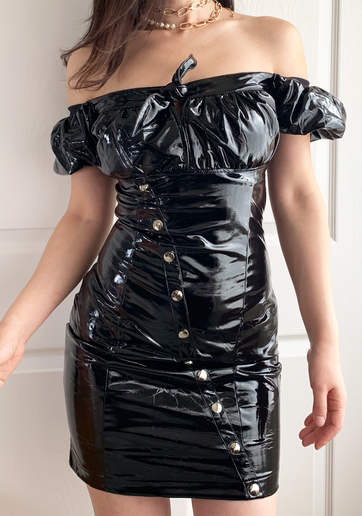 Black Dom Mini-Dress
