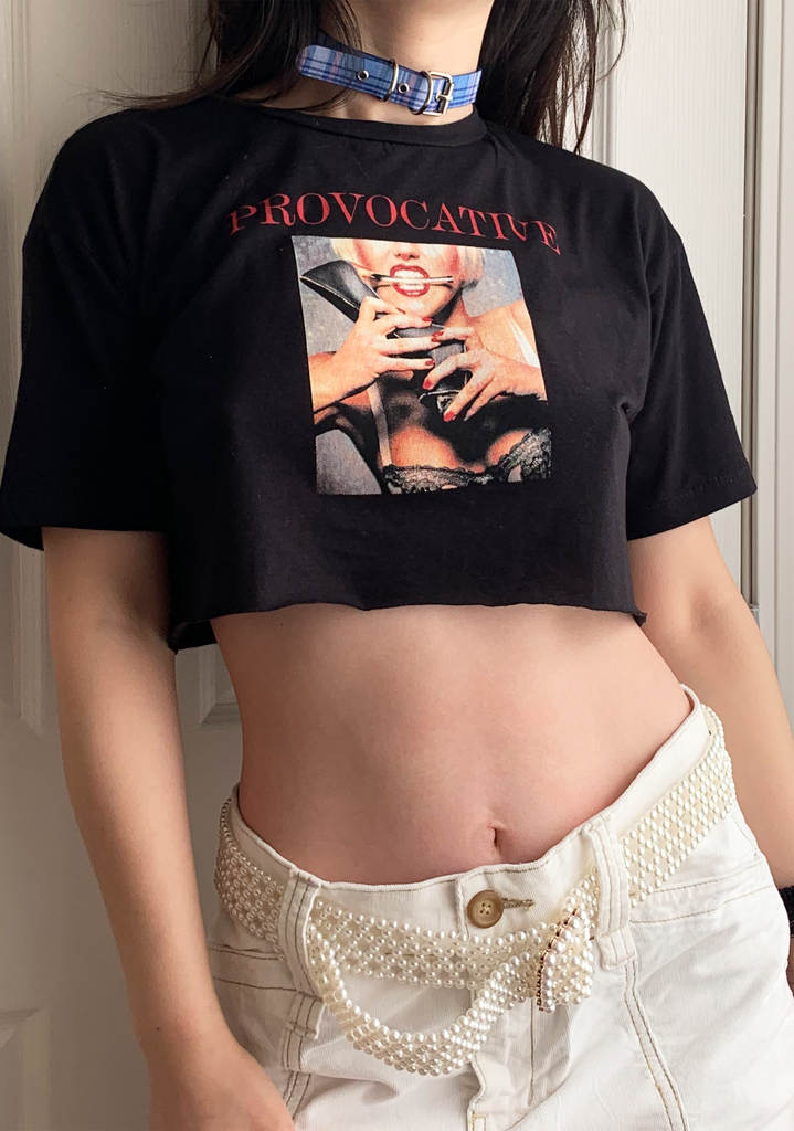 Provo Crop Black T-Shirt