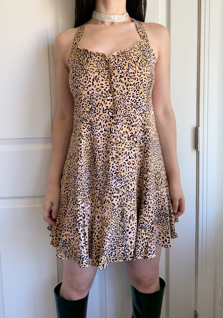 Leopard Babe Doll Dress