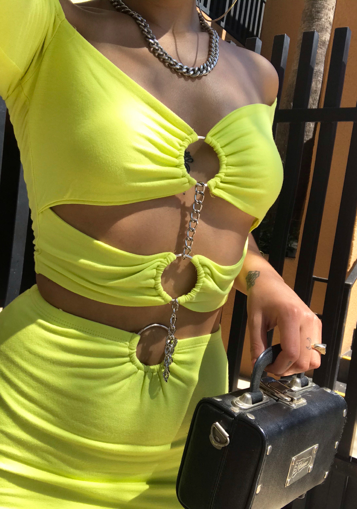 Triple-O Neon Green OS Dress