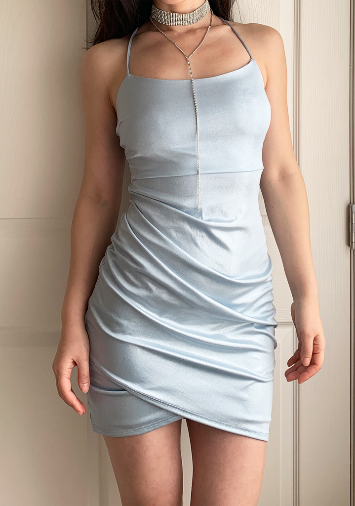 Shinning Baby Blue Bestie Slip Dress