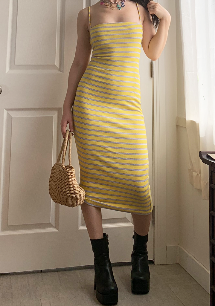 Lemonade Striped Slip Dress