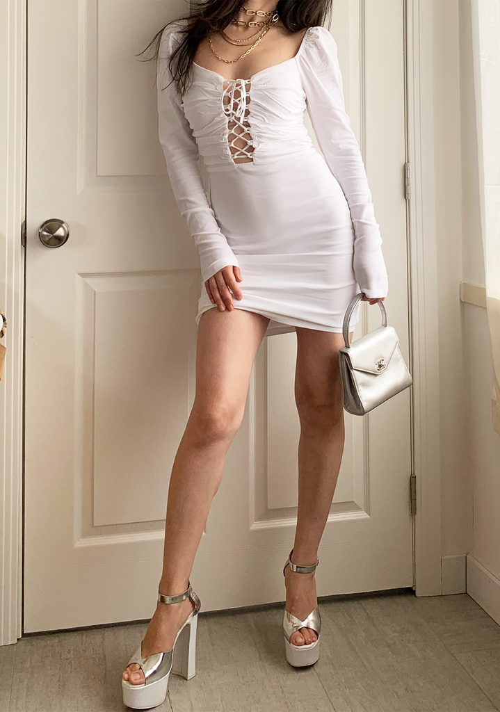 Princess White Mini-Dress