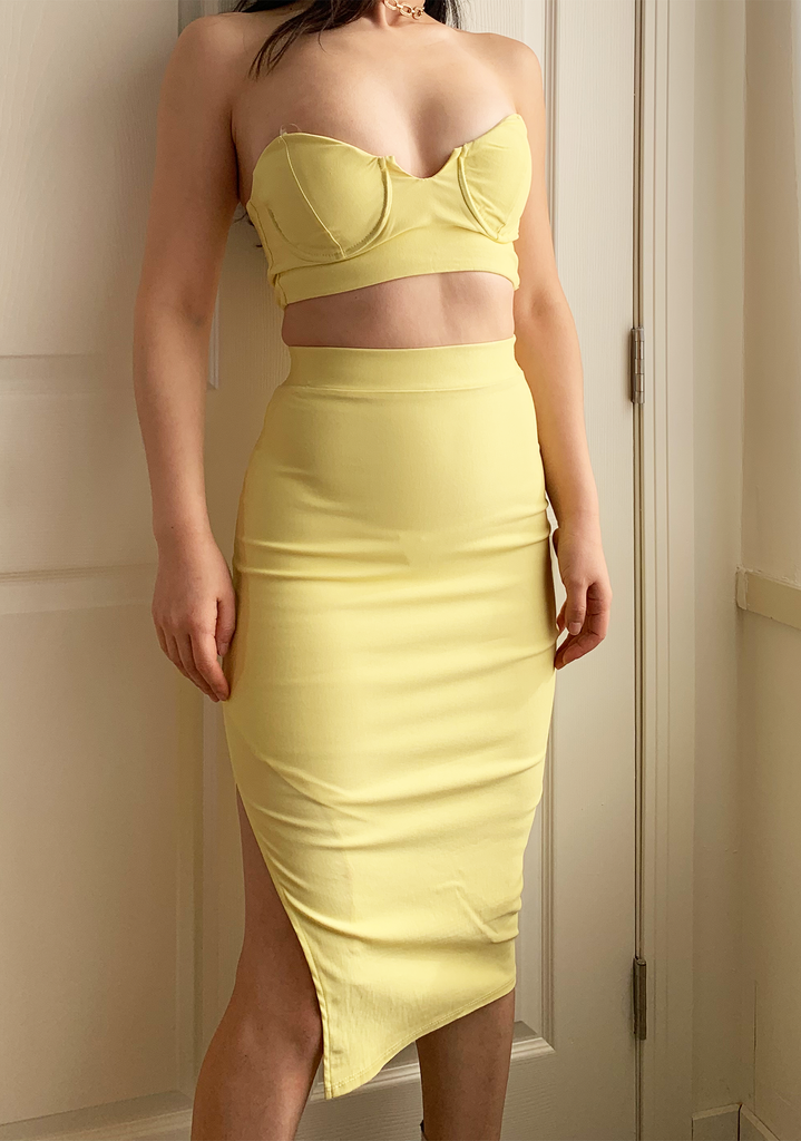 Banana Midi Skirt set