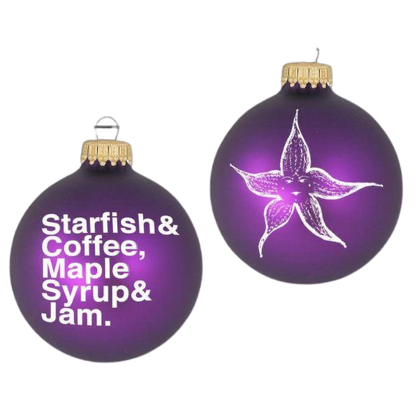 STARFISH AND COFFEE HOLIDAY ORNAMENT