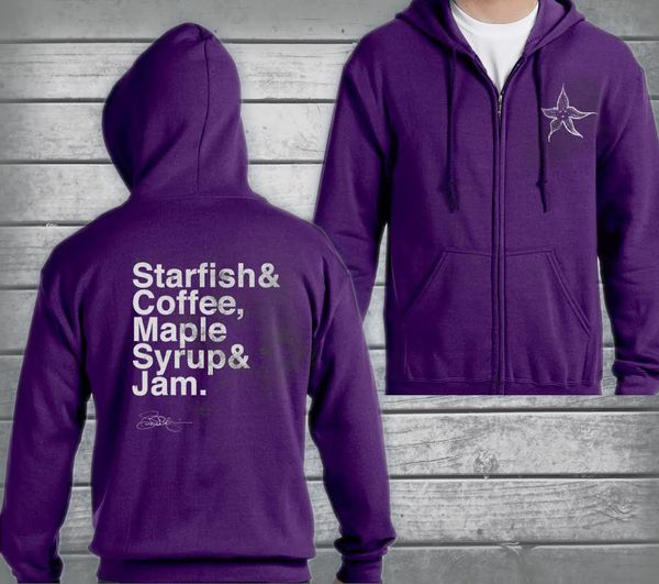 PURPLE ZIP UP HOODIES