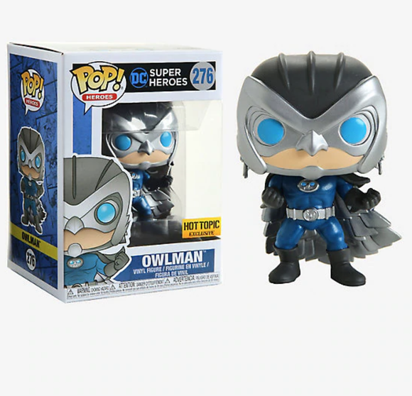 FUNKO DC SUPER HEROES POP! OWLMAN VINYL FIGURE HOT TOPIC EXCLUSIVE