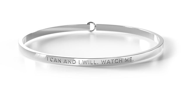 i can and i will. watch me. / clasp