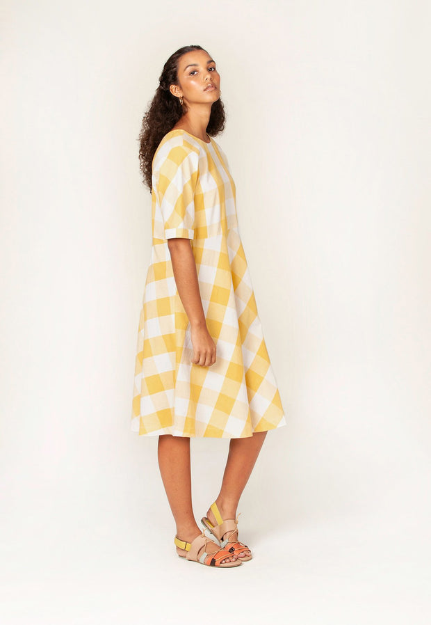nancybird angourie dress / sunshine check