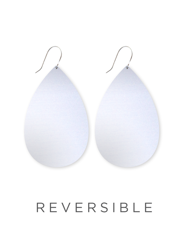big tear drop earrings