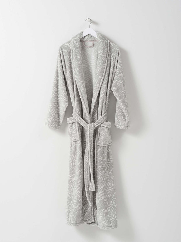 ladies velour dressing gown / halo