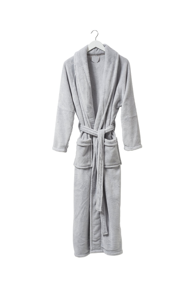 ladies velour dressing gown / plain II