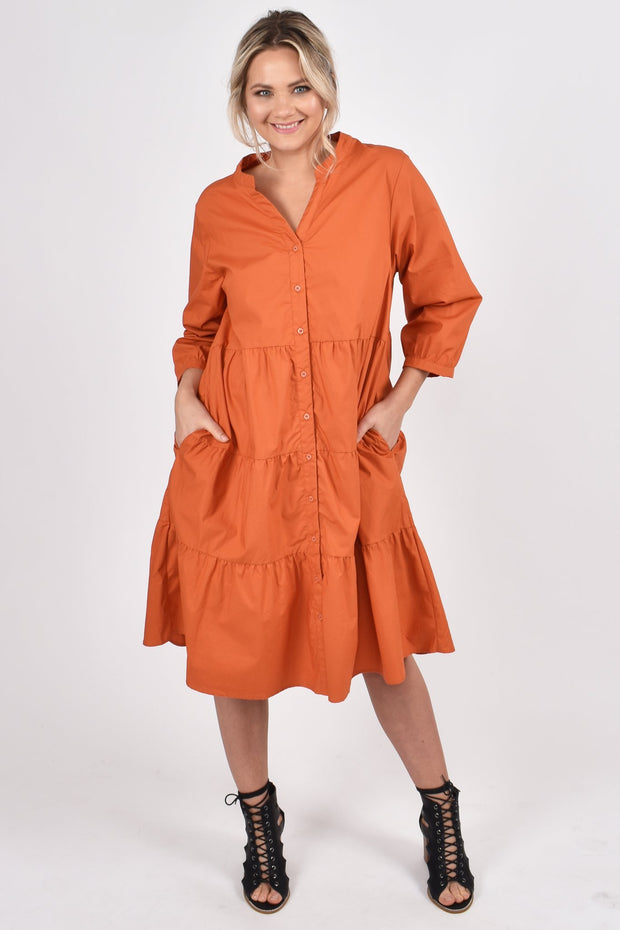 tier shirt dress