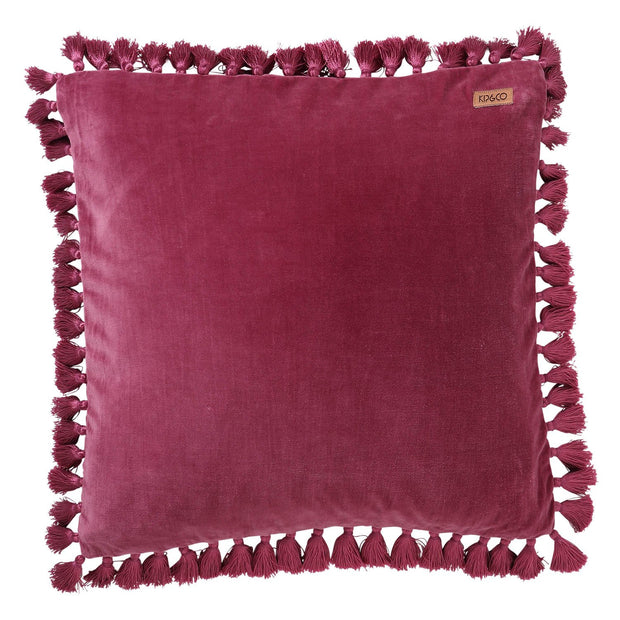 kip&co velvet tassel cushion