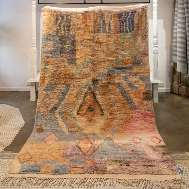 washed away vintage boujad rug / 1.7 x 2.6
