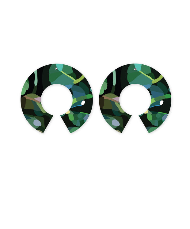big halo stud earrings