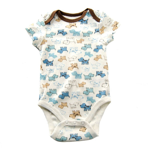 Dog and Puppy Printed Baby Outfit/Bodysuit