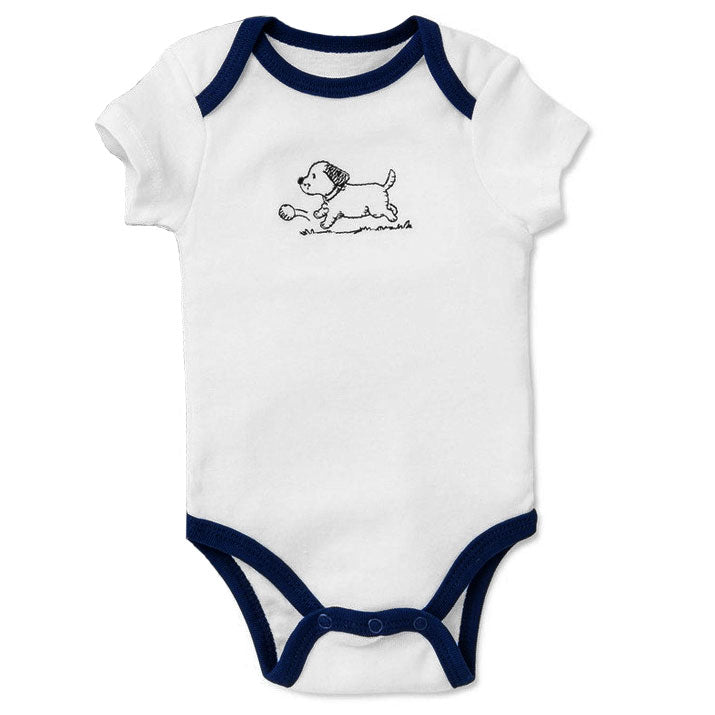 Puppy Toile Baby Outfit/Bodysuit
