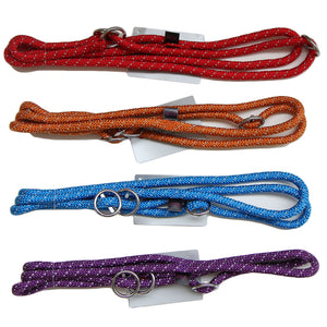 2-in-1 Rope-Slip Collar & Leash with Safety Stopper