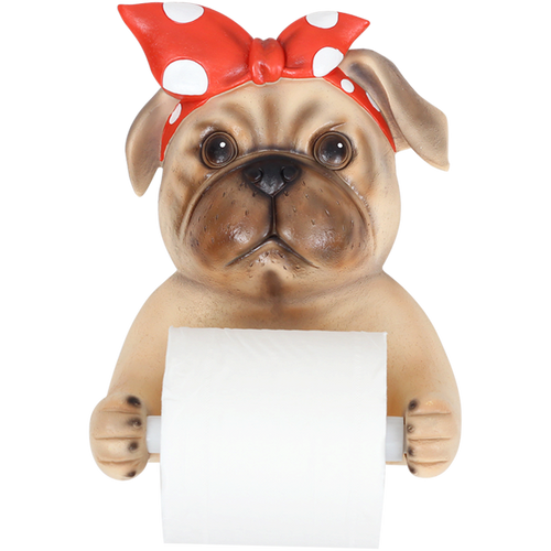 Cute Dog Roll Paper Holder for Kitchen or Bathroom