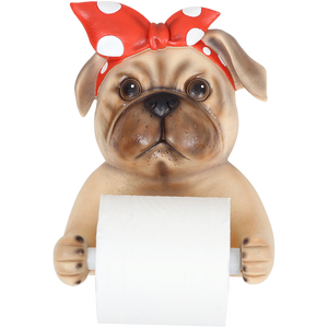 Resin Dog Roll Paper Holder for Kitchen or Bathroom