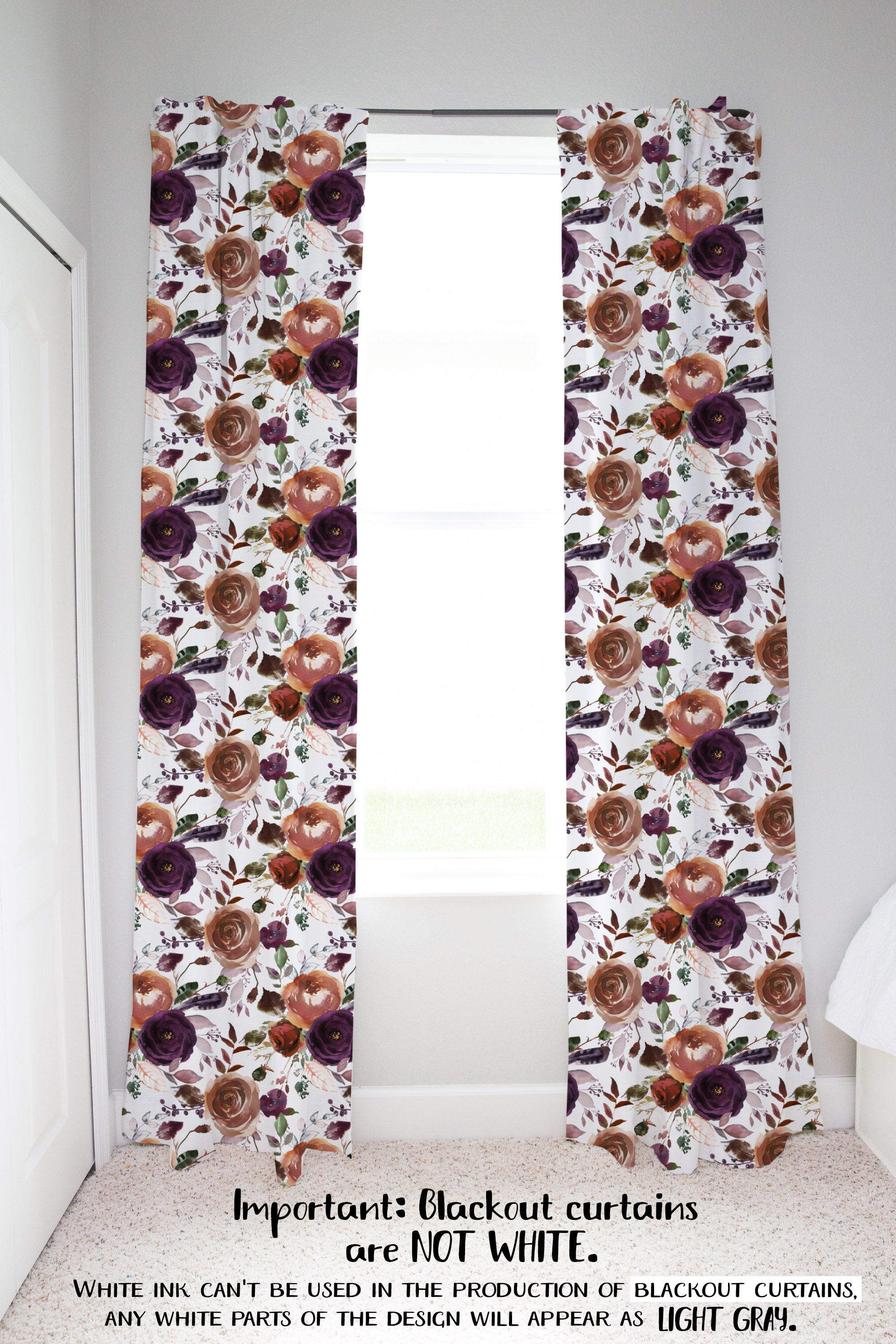 Boho Tawny Curtain Floral Nursery Decor Brave Wild Ones