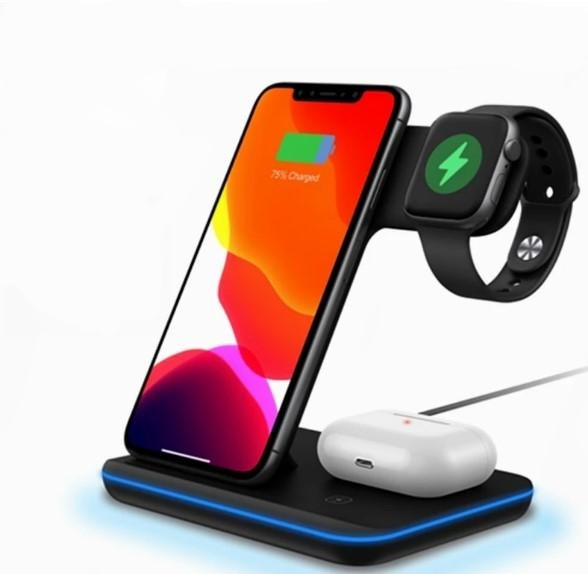 3 in 1 Wireless Charging Stand Dock Station