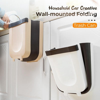Household Car Creative Wall-Mounted Folding Trahs Can - Gym Explosion